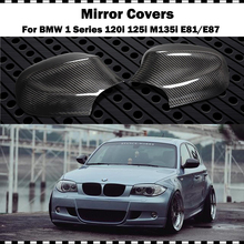 Carbon Fiber Mirror cover For BMW 1 Series Hatchback 120i 130i 135i E81 E87 2009-2011 Car CF styling rear mirror cap (stick-on) new 1 1 replacement carbon fiber rear view mirror cover car styling for volkswagen vw tiguan 2009 2015