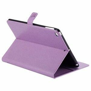 Image 5 - Für iPad Air 2 Fall Prägung Katze Unter Dem Baum Premium PU Leder Flip Brieftasche Stand Fall Karte Halter Abdeckung für iPad Air2 iPad 6
