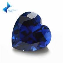 Размеры 3x3mm ~ 8x8 мм 34 # камень сердце Форма синий синтетические