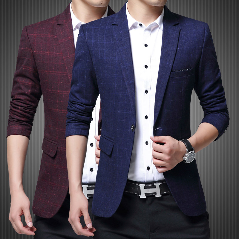 Fall 2020 New Small Blazer Men's Cultivate One's Morality Thin Blazer Young Striped Blazer Trend