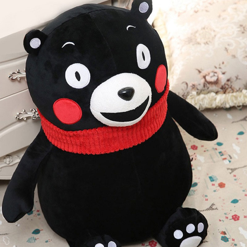 18cm Cute Kawaii Mini Cute Bear Kumamon Plush Doll Stuffed Mascot With Red Scarf