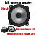 Free Shipping Hot 2 X 5 inch Car Speaker Automotive Car Full Range Speaker stereo audio speaker 2x60W subwoofer