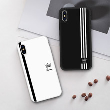 King For Queen Lovers Romantic Black White Soft TPU Slim Bla