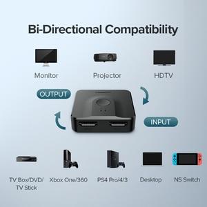 Image 4 - Ugreen rozdzielacz HDMI przełącznik dwukierunkowy 4K HDMI przełącznik 1x 2/2x1 Adapter 2 w 1 konwerter na PS4/3 TV, pudełko rozdzielacz HDMI