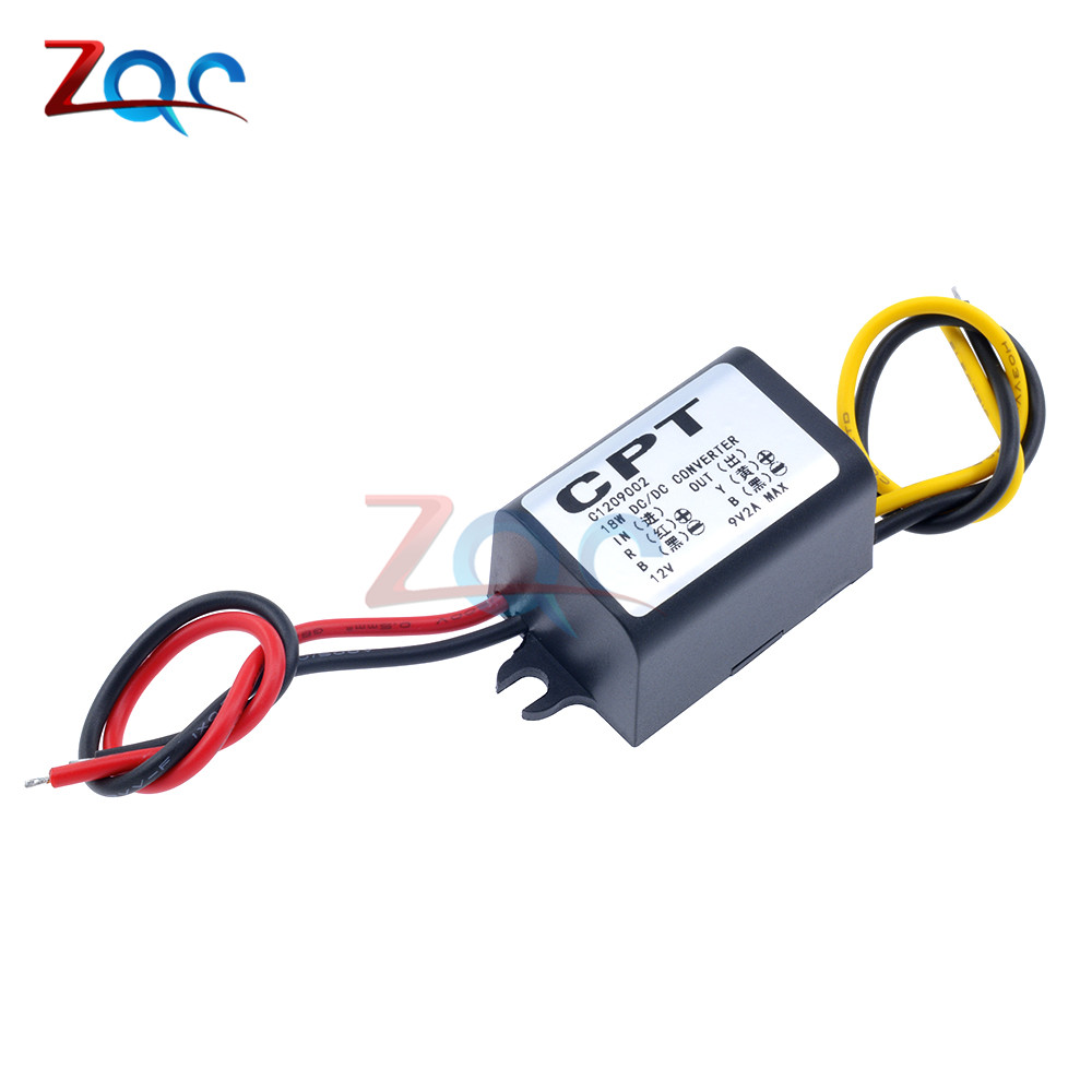 DC to DC Converter 12V Step Down to 9V 2A 15W Power Supply DC Inverter Commutator Translator Module Waterproof 3v 3a 15w power supply module waterproof dc dc converter 12v apr19 35