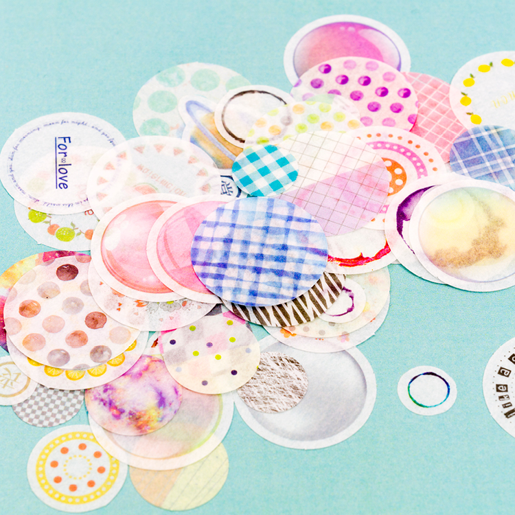 25pcs/pack Twelve Sweets Salt Round Paper Sticker Decoration Diary Scrapbooking Label Sticker Kawaii Japanese Stationaries