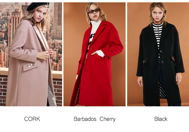 ONLY 19 Autumn Winter Women Wool Coat New Women's Embroidered Woolen Coat |11834S539 9