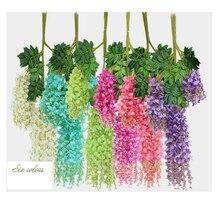 1piece Wedding Decoration Silk Flower Garland Artificial Flower Wisteria Vine Ra