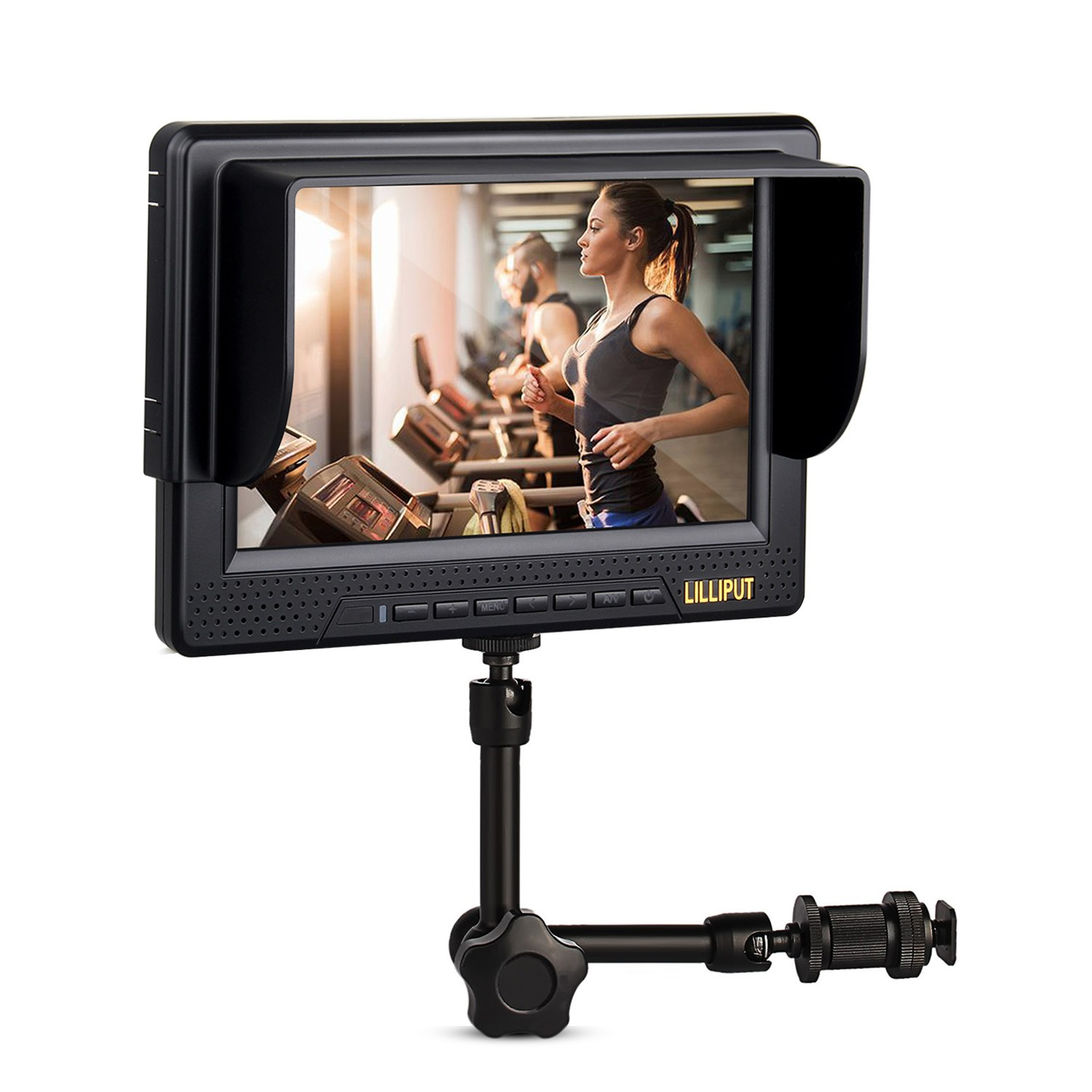 7 inch Lilliput 668GL 70NP/HY LCD Video Camera Monitor 1920x1080 HDMI YPbPr AV Input + 7 Inch Magic Arm