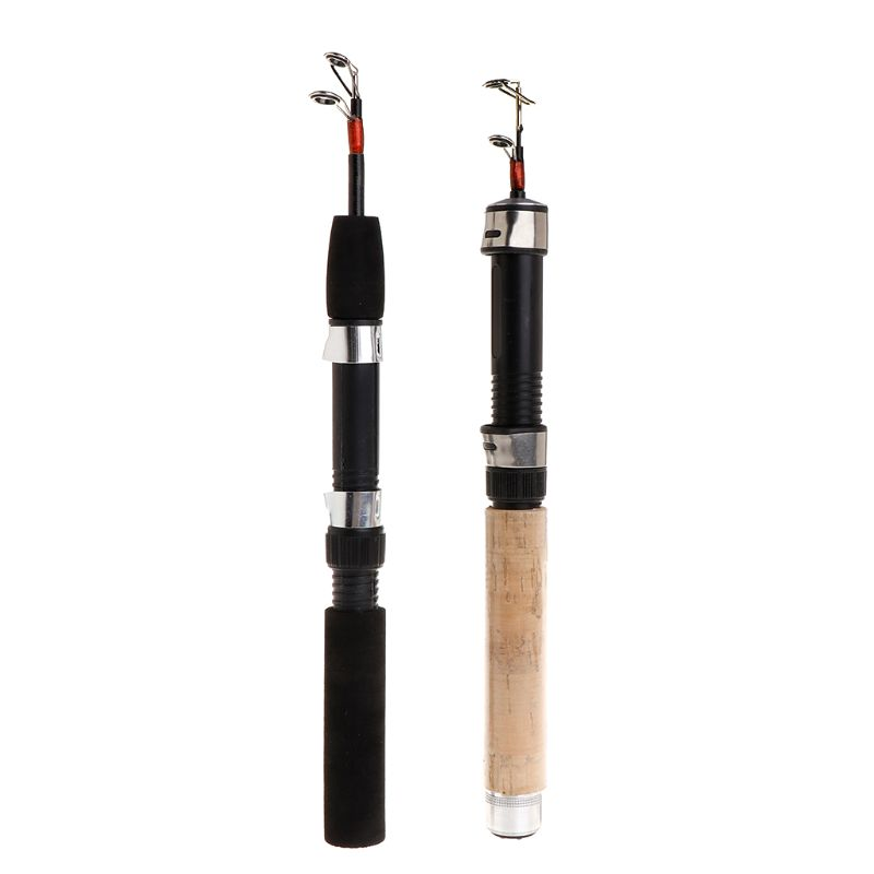 Trend Mark 1pc Fishing Rod Short Folding Stretch Pole Ice Fishing Rods Eva Handle 62/65cm Portable Winter Outdoor Tackle Sports & Entertainment