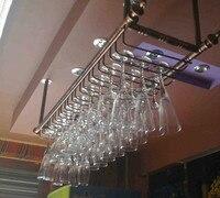 Топ Номинальная 2015 Бар держатель для вина винный стойка для стаканов настенная Подвесная подставка для чашек стойка для винного бара 150 см (L