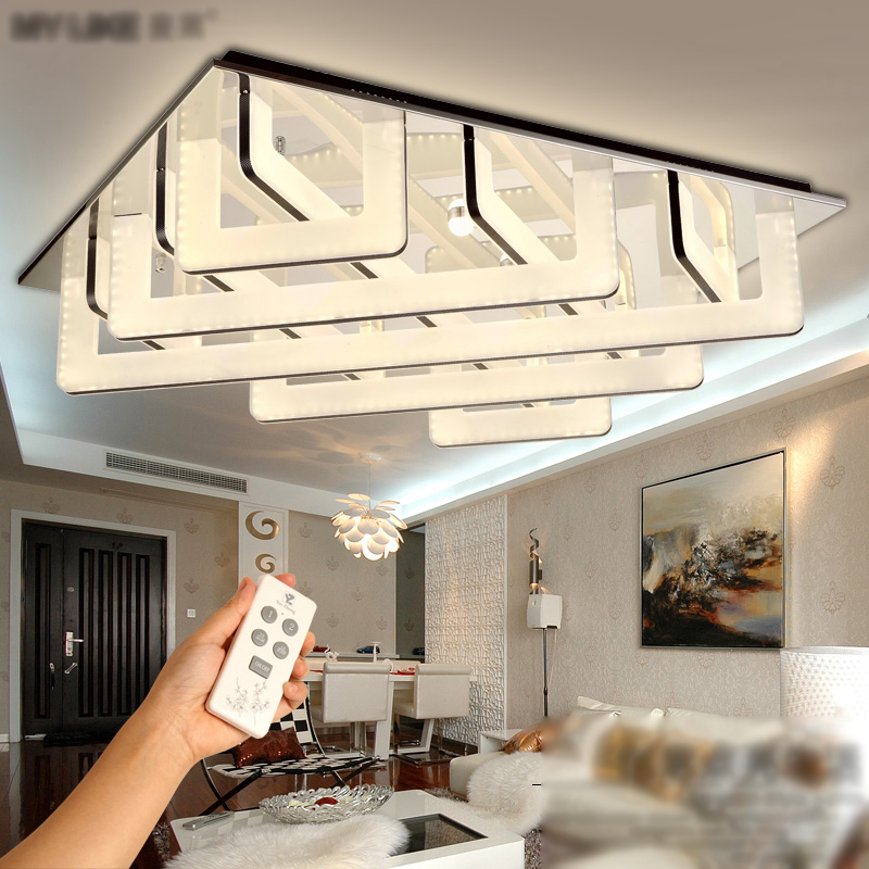 Led ceiling lamp living room lights simple modern atmosphere home creative rectangular bedroom lights Nordic personality lamps
