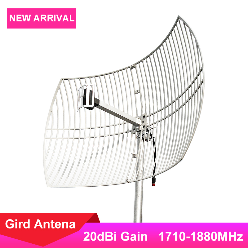 20dBi Gird Antenna LTE 1800MHz External Antenna For 4G LTE 1800MHz Cellphone Cellular Signal Booster Amplifier 4G Big Coverage *