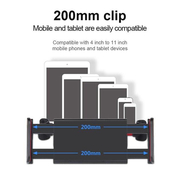 Stojak na Tablet samochodowy stojak na Ipad 2/3/4 Air Pro 7-11 telefon uniwersalny stojak uchwyt na tylne siedzenie uchwyt samochodowy 360 obrót
