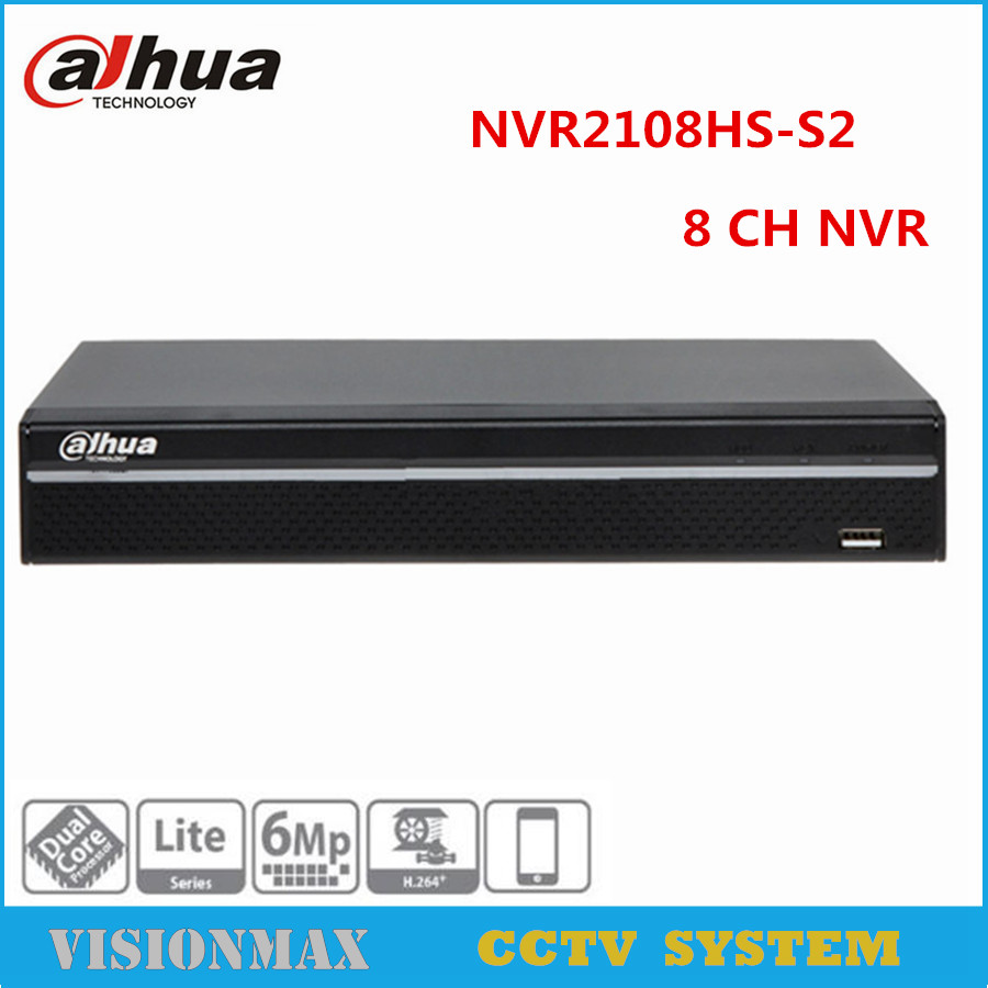 Dahua 8CH HD CCTV NVR NVR2108HS-S2 up to 6Mp Camera Onvif 1U Network Video recorder HDMI VGA Playback Alarm Surveillance NVR free shipping 2016 new cctv dahua nvr 16ch 8 poe network video recorder nvr4216 8p 4ch alarm in and 2ch relay out support onvif