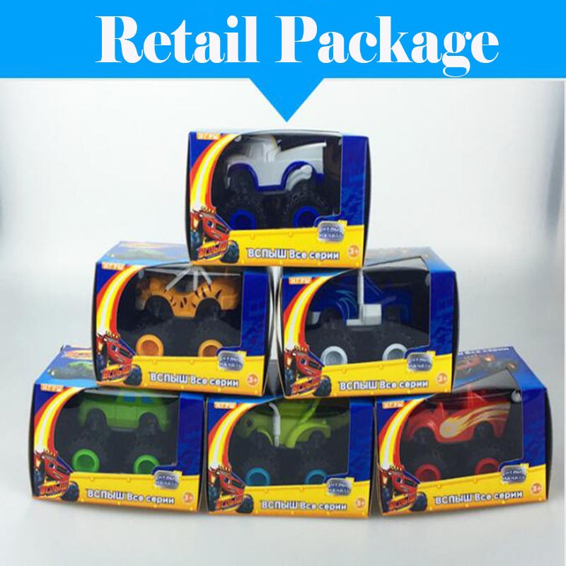 6pcs/lot Retail Box Blaze Monster Machines Vehicles Diecast Toy Racer Cars Trucks Kid Funny Educational Car Toy Child Xmas Gift kid s box 2ed 6 pb