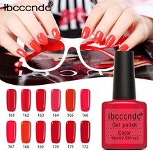 Ibcccndc Christmas Red Women 10ML Gel Nail Polish Nail Art Nail Gel Polish vernis holographique laca de unas esmalte para unhas