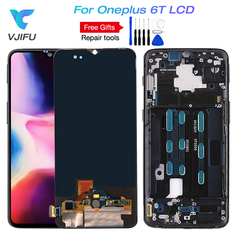 Oneplus 6T LCD Display Screen Touch Panel Assembly Original Tested One plus 6T LCD Display Digitizer With Frame OnePlus 6T LCDOneplus 6T LCD Display Screen Touch Panel Assembly Original Tested One plus 6T LCD Display Digitizer With Frame OnePlus 6T LCD