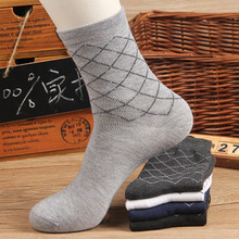 Autumn Winter Men Socks New Arrival Polyester Cotton Cheap Wholesale Casual breathable jacquard