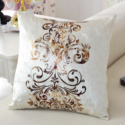 #1082 New Europe Luxury Gold Stamp Velvet Pillow Without Filling Sofa Cushion Bed Room Ornament Wholesale