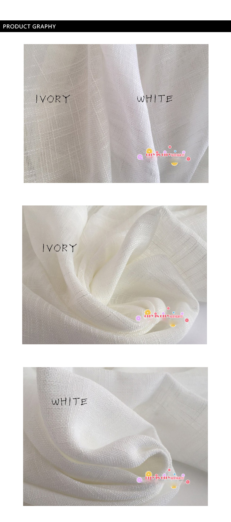 CITYINCITY Tulle  American Curtains for Living room Soft White Voile  solid Rural Tulle Curtain for bedroom ready made curtain03