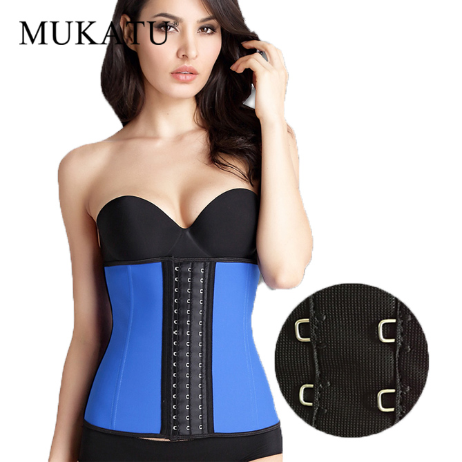 05be732705 MUKATU New Big Buckle 9 Steel Bone Waist Shaper Corset 100% Latex Waist  Trainer Body Shaper Corset Women Waist Cincher Slim Belt