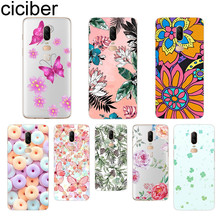 ciciber Plant Flower Phone Case For Oneplus 7 Pro 6 5 T Soft TPU Back Cover Clear Coque for 1+7 Pro 1+ 6 1+5 T Fundas Shell Capa