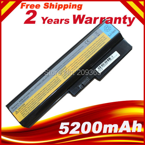 Batería para portátil Lenovo 3000 G430 G450 G530 G550 N500 Z360 B460 B550 V460 V450 G455 G555 Y l08s6y02