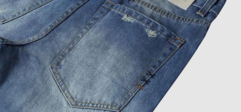 9090c3cd23 Tangnest hombres jeans patchwork azul claro estilo del resorte ...