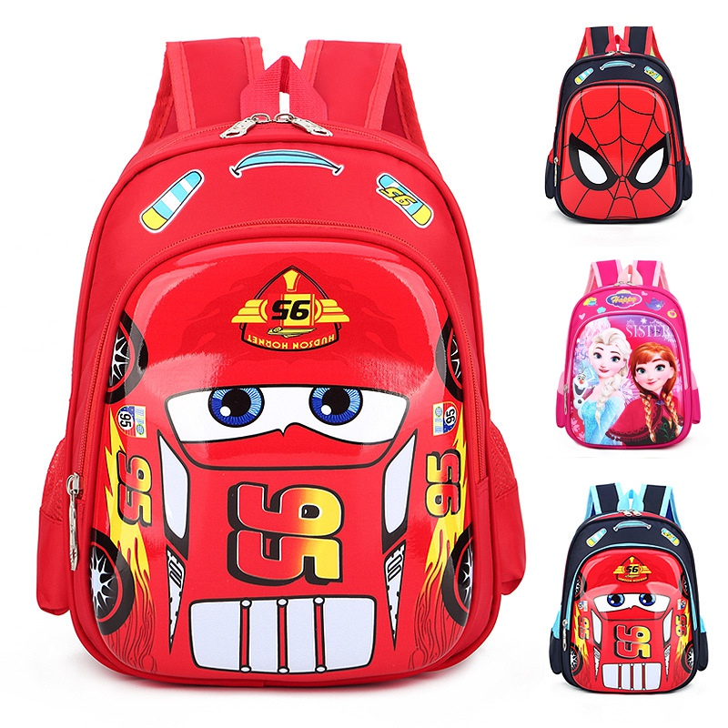 Disney Car Children's bag school mini backpack boys girls cartoon Frozen kindergarten baby bag shoulder Primary student bag-in Backpacks from Luggage & Bags