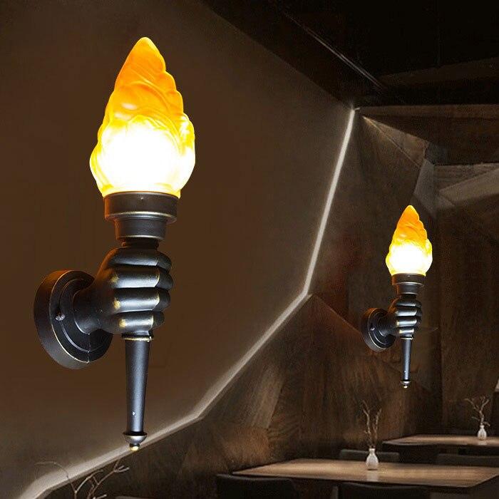 European style creative aisle torch wall lamp retro industrial wind loft bar torch modeling wall lamp  LU720158
