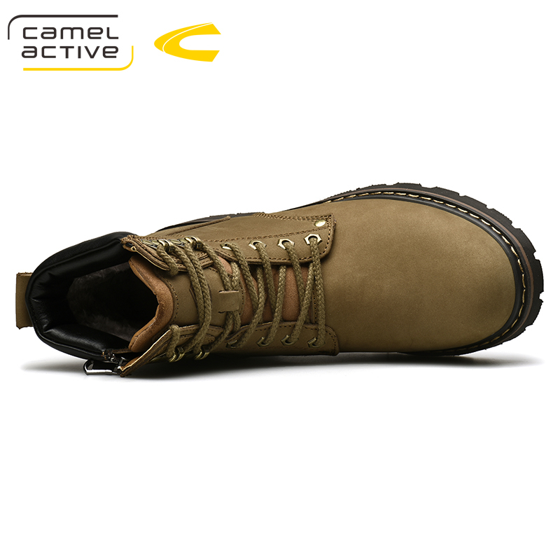 Camel Active Nieuwe Hoge Kwaliteit Enkellaarsjes Voor Mannen Schoenen Outdoor Casual Rijden Paardensport Laarzen Zapatos de Hombre Mannen Laarzen - 5