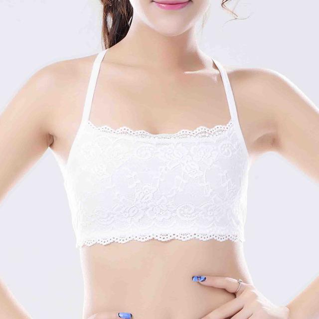 200PCS/LOT Women Top Sexy Lace Bra Crop Top Vest Nylon   Women's Tanks Tops For Women bra free size