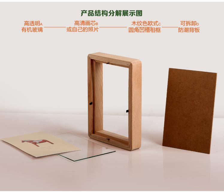 1 PC 4 tamaño de estilo europeo de mesa de madera, foto Marco de muebles para el hogar decorativa creativa de los niños de madera marco de fotos JL 0954