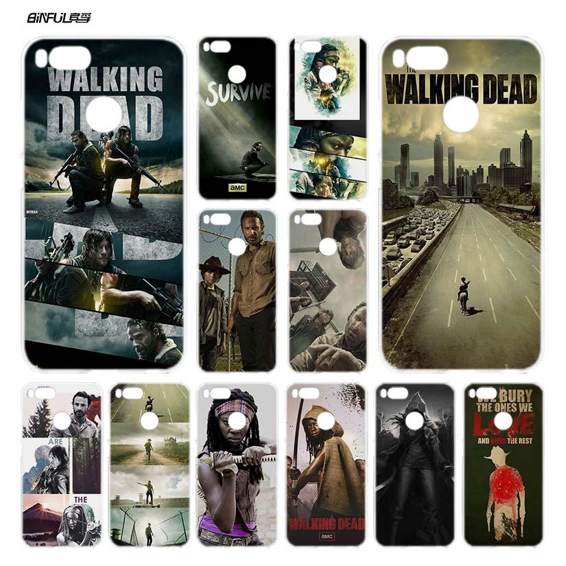 BiNFUL The Walking Dead  H Clear Cover Case Coque for Xiaomi Redmi Mi A1 5X Note 2 3 4X 4 5 4A 5A Plus