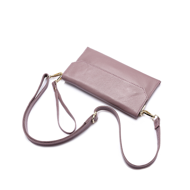 Women's Travel Messenger Bags Genuine Leather Solid Color
