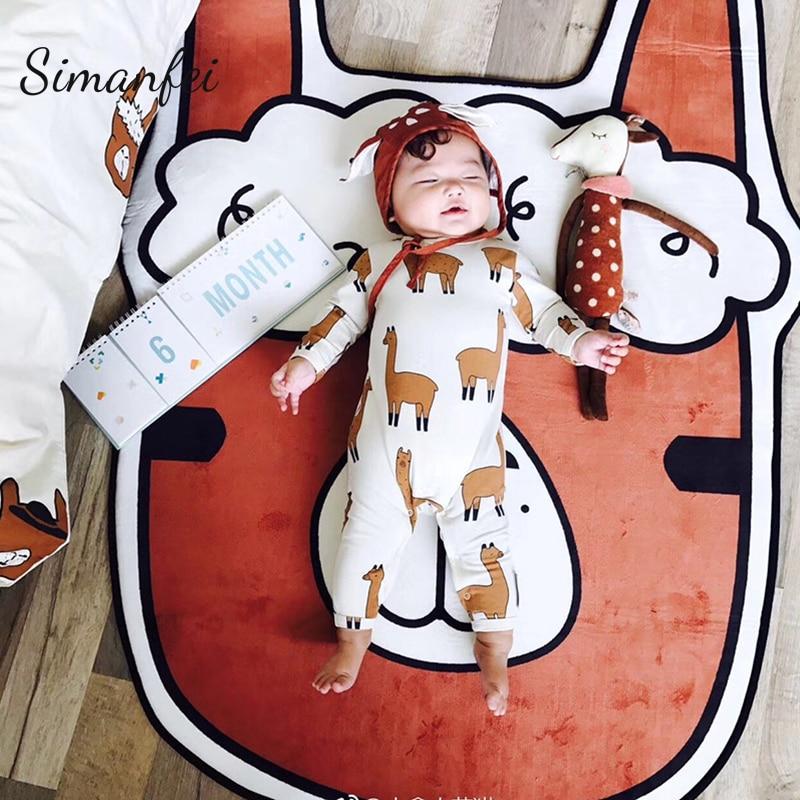 Simanfei tapis 2019 alpaga loi tapis de combat chambre d'enfants bébé Studio photographie correspondant dessin animé en forme de tapis