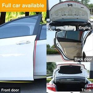 Image 5 - WHDZ 1 sztuk/para 5M samoprzylepna samochodowa gumowa uszczelka taśma uszczelniająca na okno samochodu krawędź drzwi antykolizyjny pasek gumowy