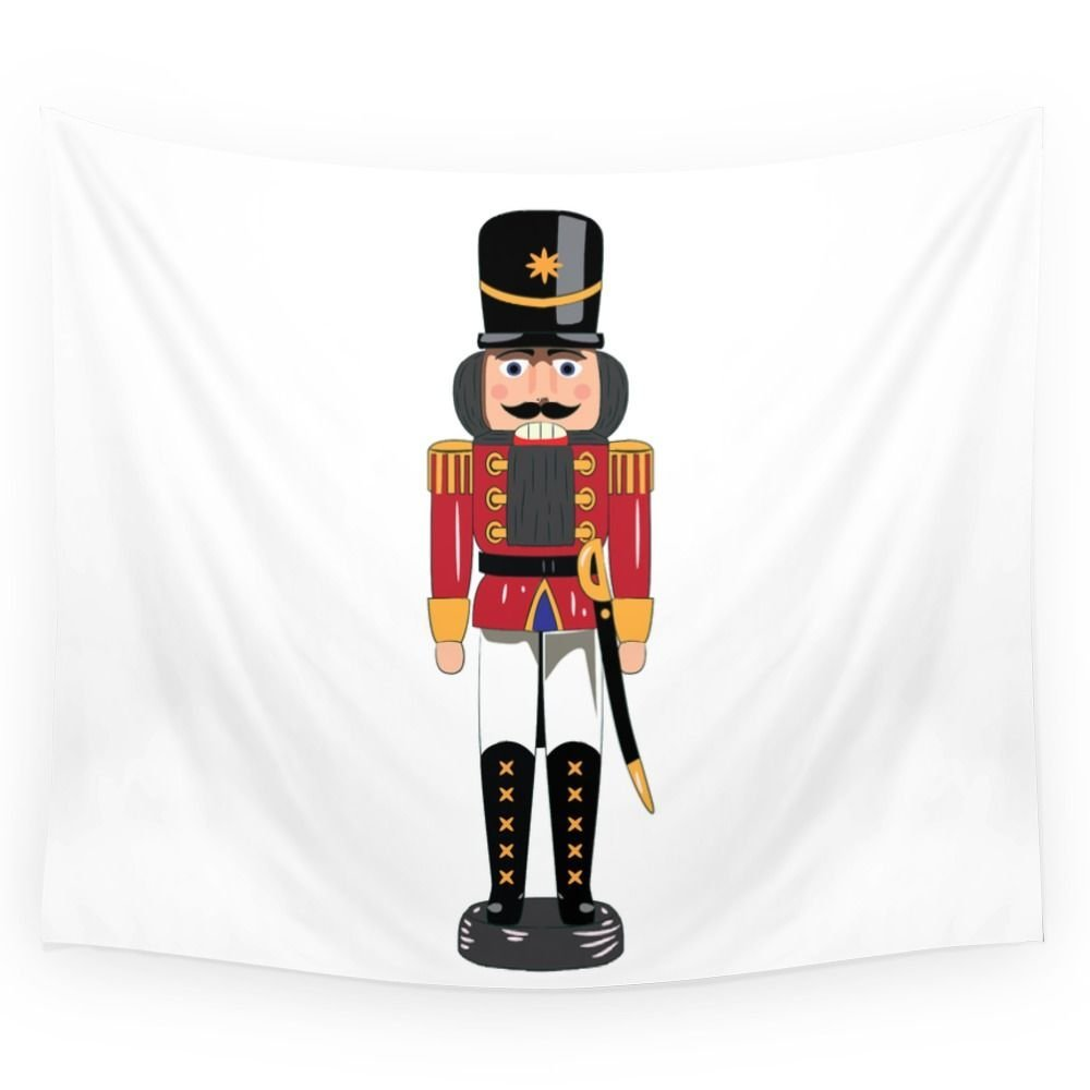 Christmas Nutcracker Soldier Wall Tapestry Home Room Wall Decoration Bedspread Dorm Cover