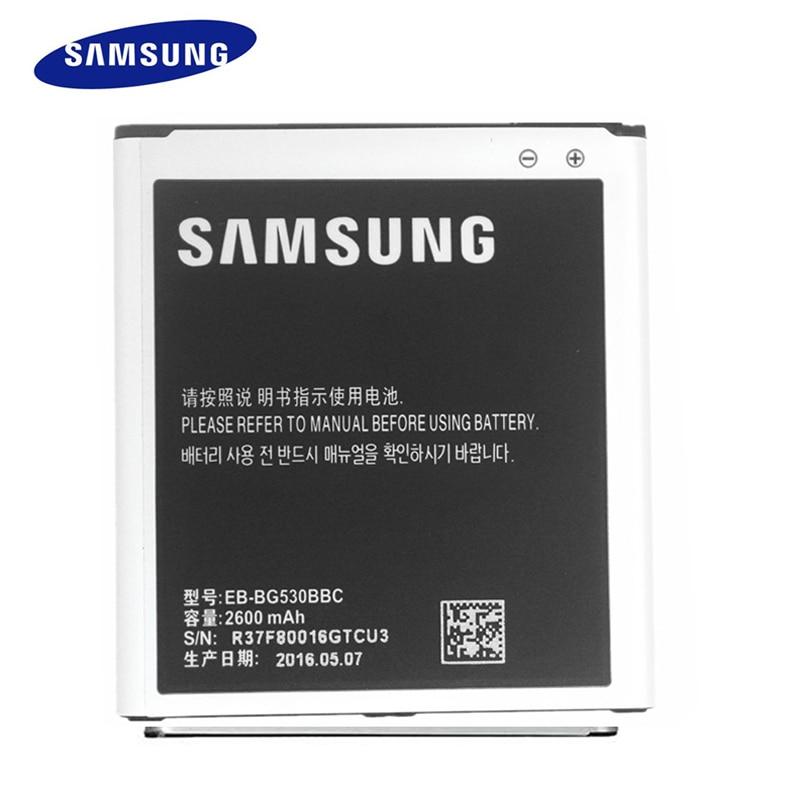 New Original Samsung J5 Battery 2600mAh EB-BG530BBC Battery for G5308 G5309W G5306 J5000 J5008 J5009 J500H J500F Phone Battery