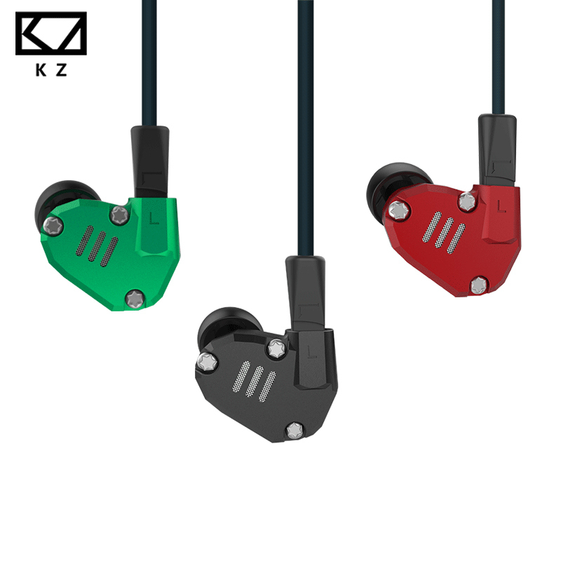 KZ ZS6 2*DD+2*BA 8 Drivers Hybrid Earphone with Microphone In Ear HIFI Stereo Sport Running Headset Metal Earbuds DJ XBS BASS new kz es3 ba dd in ear earphone hybrid headset hifi bass noise cancelling earbuds with mic replaced cable