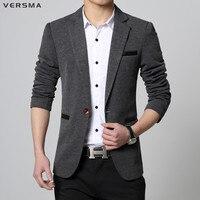 VERSMA 2017 High Quality Patchwork Blazer Suit Jacket Men Trendy British Style Tailored Wedding Men Designer