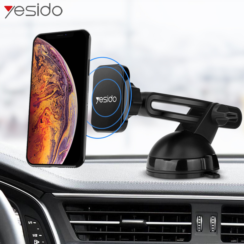 Yesido C39 Telescopic Magnetic Car Phone Holder Stand Windshield Sucker Car Mount Holder For Phone In Car Magnet Stand Holder