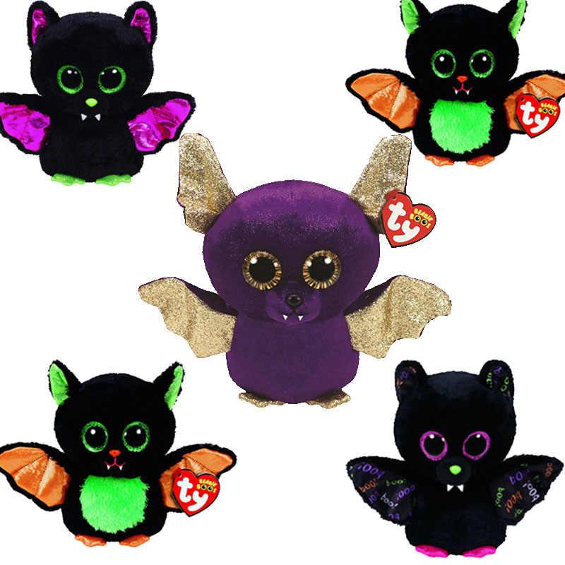 b71a41e0d6f Detail Feedback Questions about Ty Beanie Boos 6   15cm Big Eyes Halloween  Purple Bat Plush bat Stuffed Animal Collection Soft Doll Toy on  Aliexpress.com ...