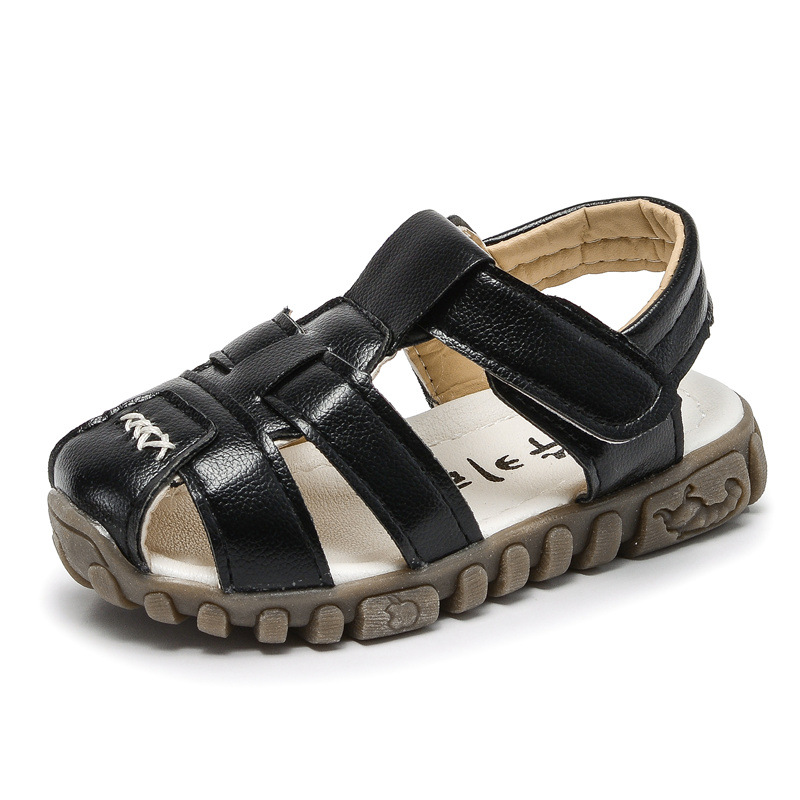 Summer Children Sandals for Boys Shoes Baby Soft Leather Toddler Little Kids Shoes Casual Beach Sandals Flats Anti-slip Fashion 2017 summer fashion rome kids sandals princess rhinestone little girls sandals casual beach brand children sandals shoes