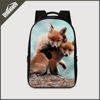 Dispalang High Class Students Laptop Backpack Fox Printed Large Back To School Backpacks For Teenager Boys