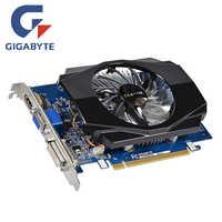 Oryginalna karta graficzna GIGABYTE GT 730 2GB mapa 128Bit GDDR3 GT730 karty wideo dla nvidia geforce D3 HDMI Dvi karta graficzna VGA N730