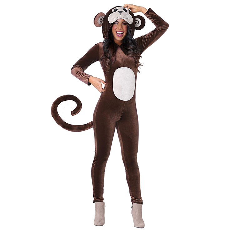 Irek New Party Halloween Costume Women Animal Naughty Exaggerated Monkey Styling Costume Cosplay Costume Jumpsuits