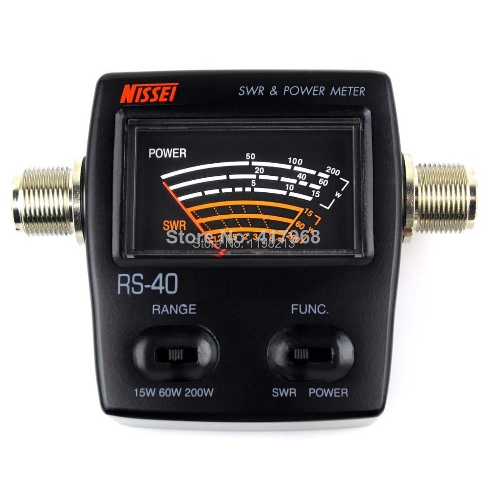 SWR Power meter wave ratio watt meter 0-200W energy meters for HAM Mobile VHF UHF 200W Alishow NISSEI RS-40 new style nissel rs 70 digital swr