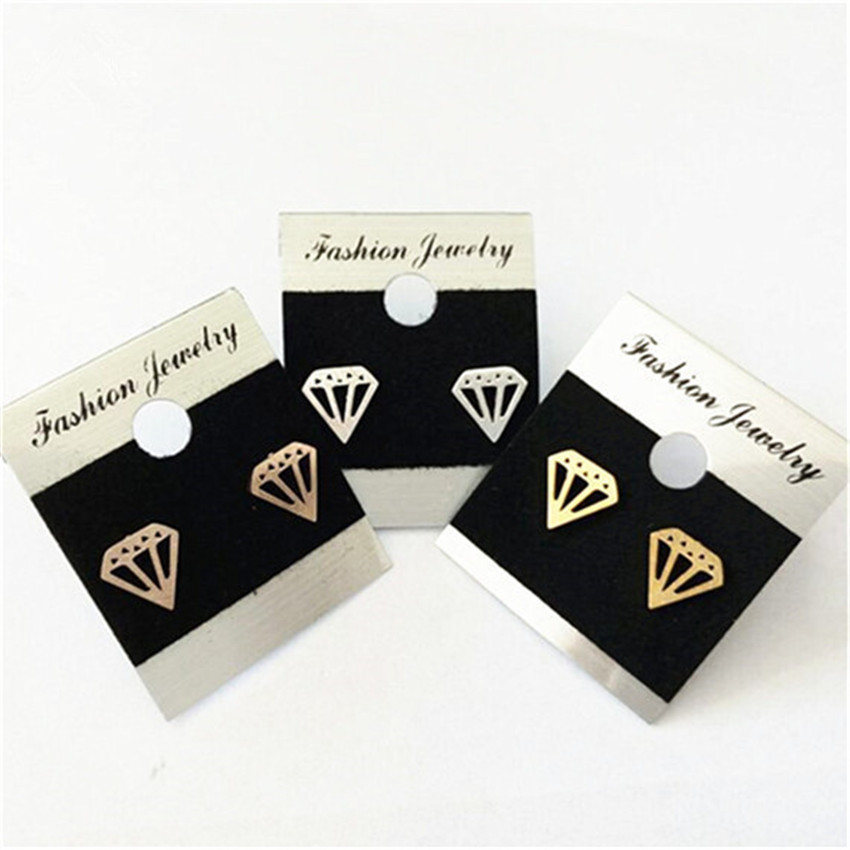 10 Pairs Stainless Steel Cone Shaped Stud Earrings Women Men Bijoux Brincos Geometric Ch ...